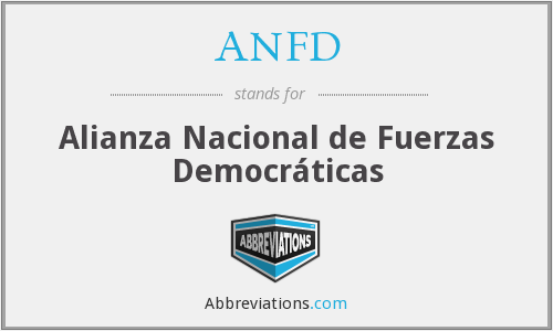 ANFD - Alianza Nacional de Fuerzas Democráticas