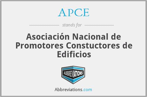 APCE - Asociación Nacional de Promotores Constuctores de Edificios