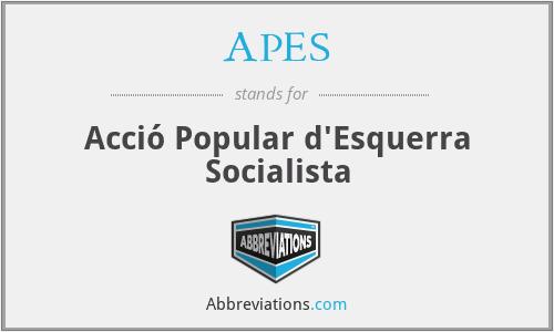 APES - Acció Popular d'Esquerra Socialista