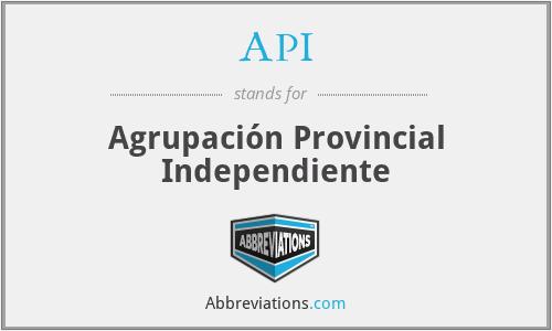 API - Agrupación Provincial Independiente