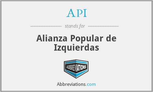 API - Alianza Popular de Izquierdas