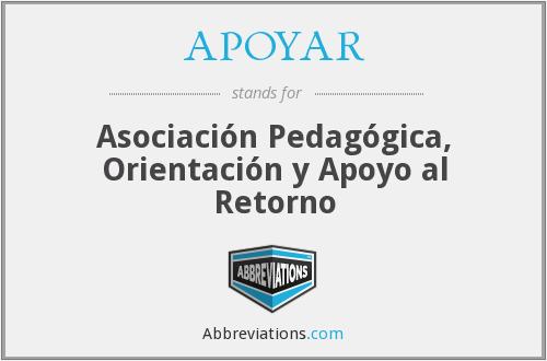 What does APOYAR stand for?