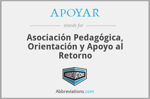APOYAR - Asociación Pedagógica, Orientación y Apoyo al Retorno