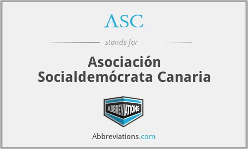 ASC - Asociación Socialdemócrata Canaria