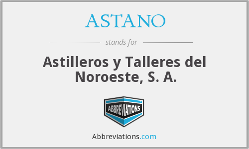 What does ASTANO stand for?