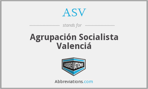 ASV - Agrupación Socialista Valenciá