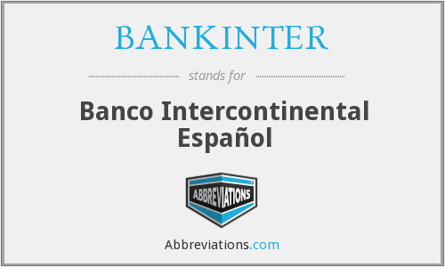 BANKINTER - Banco Intercontinental Español