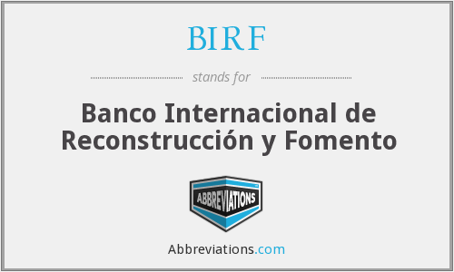 What does BIRF stand for?