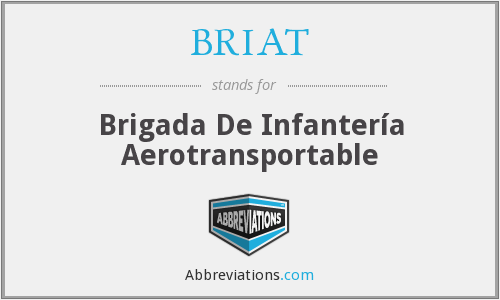What does BRIAT stand for?