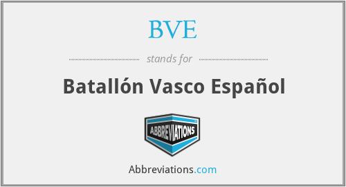 BVE - Batallón Vasco Español