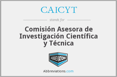 What does CAICYT stand for?