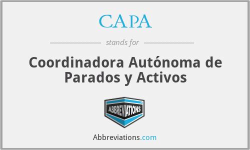 CAPA - Coordinadora Autónoma de Parados y Activos