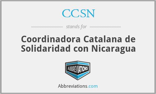 CCSN - Coordinadora Catalana de Solidaridad con Nicaragua