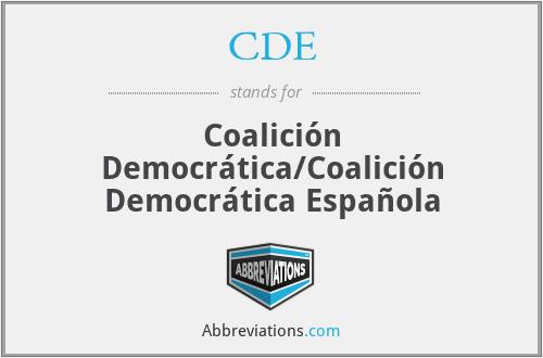 CDE - Coalición Democrática/Coalición Democrática Española