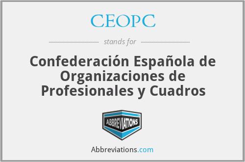 CEOPC - Confederación Española de Organizaciones de Profesionales y Cuadros