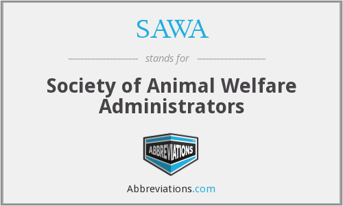 SAWA - Society of Animal Welfare Administrators