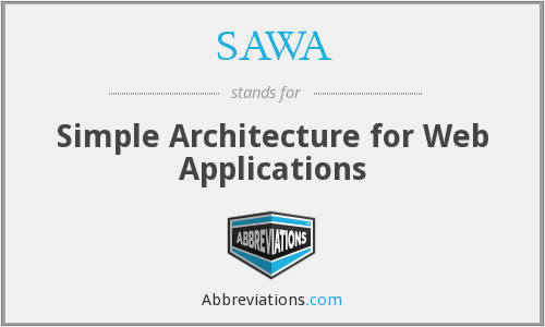 SAWA - Simple Architecture for Web Applications