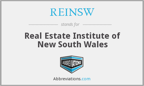 What does REINSW stand for?