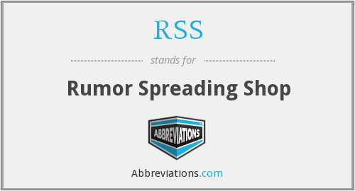 RSS - Rumor Spreading Shop