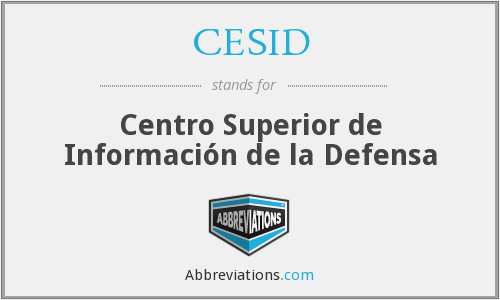 What does CESID stand for?