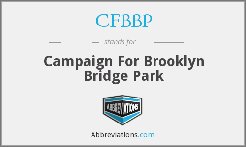 CFBBP - Campaign For Brooklyn Bridge Park