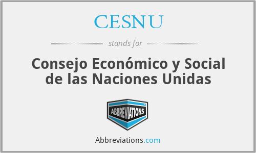 CESNU - Consejo Económico y Social de las Naciones Unidas