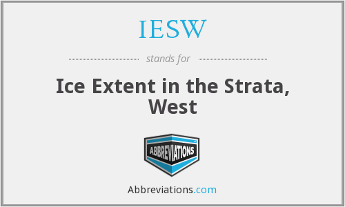 IESW - Ice Extent in the Strata, West
