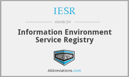 IESR - Information Environment Service Registry