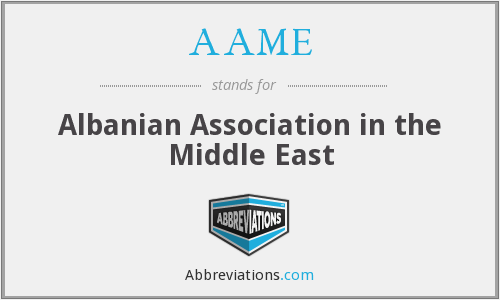 AAME - Albanian Association in the Middle East