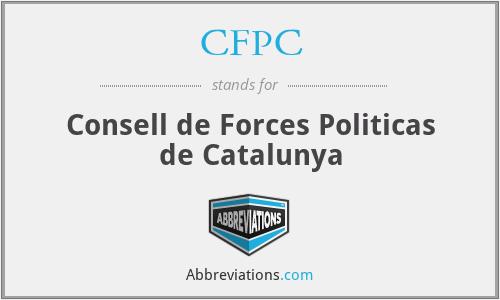 CFPC - Consell de Forces Politicas de Catalunya