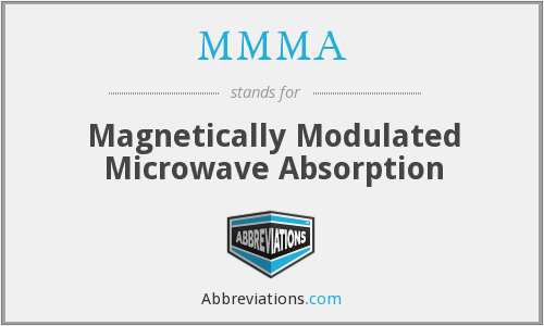 MMMA - Magnetically Modulated Microwave Absorption
