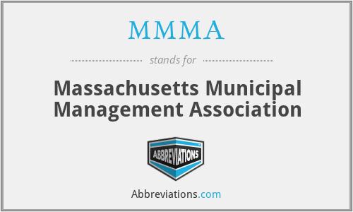 MMMA - Massachusetts Municipal Management Association