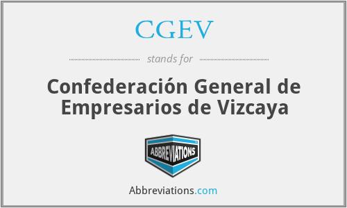CGEV - Confederación General de Empresarios de Vizcaya