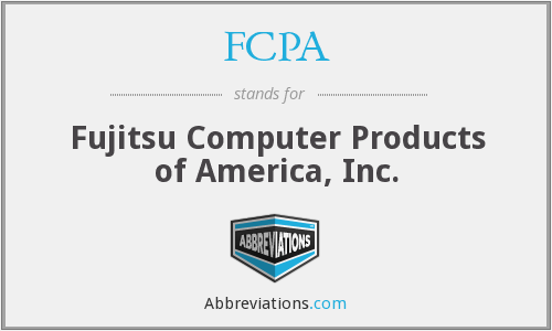 FCPA - Fujitsu Computer Products of America, Inc.
