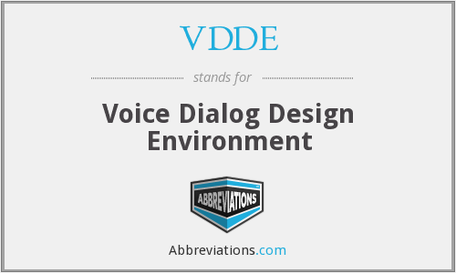 What does VDDE stand for?