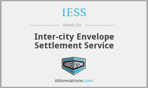 IESS - Inter-city Envelope Settlement Service