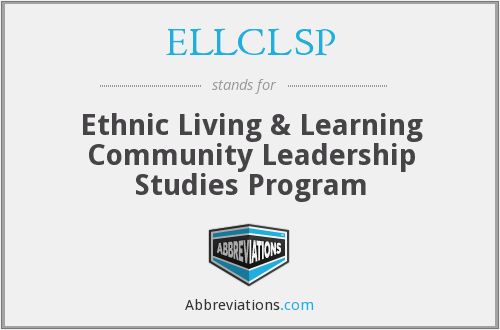 What does ELLCLSP stand for?