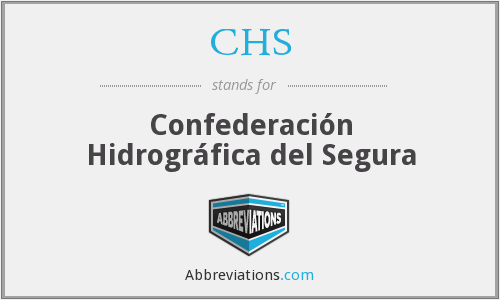 CHS - Confederación Hidrográfica del Segura