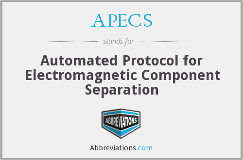 What does APECS stand for?