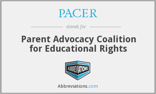 PACER - Parent Advocacy Coalition for Educational Rights