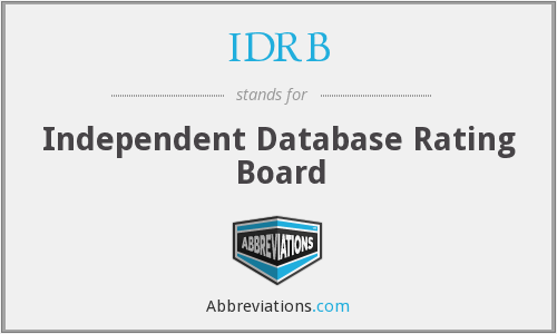IDRB - Independent Database Rating Board