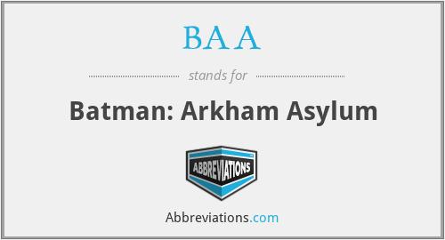 BAA - Batman: Arkham Asylum