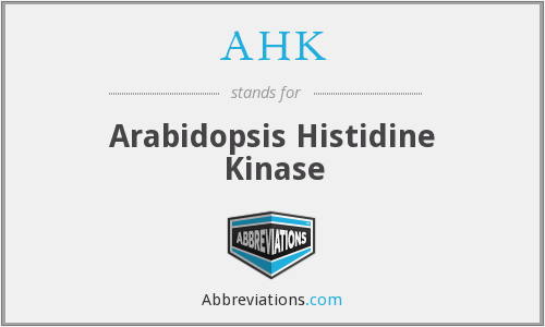 AHK - Arabidopsis Histidine Kinase
