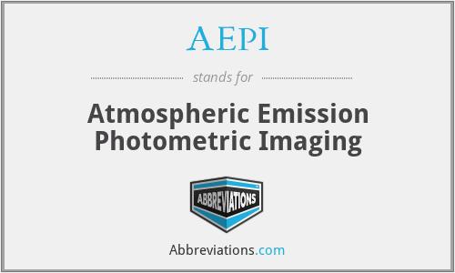 AEPI - Atmospheric Emission Photometric Imaging