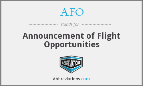 AFO - Announcement of Flight Opportunities