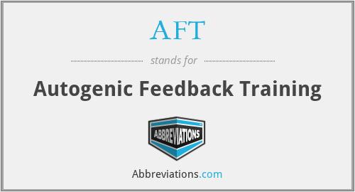 AFT - Autogenic Feedback Training