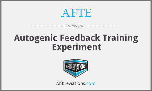 AFTE - Autogenic Feedback Training Experiment