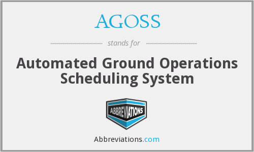 AGOSS - Automated Ground Operations Scheduling System