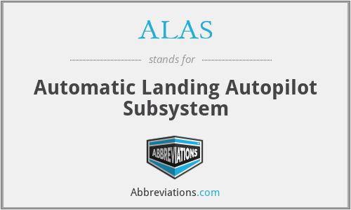 ALAS - Automatic Landing Autopilot Subsystem