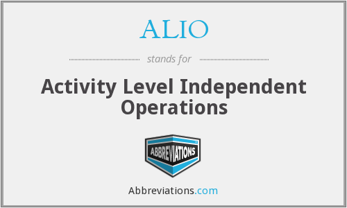 What does ALIO stand for?